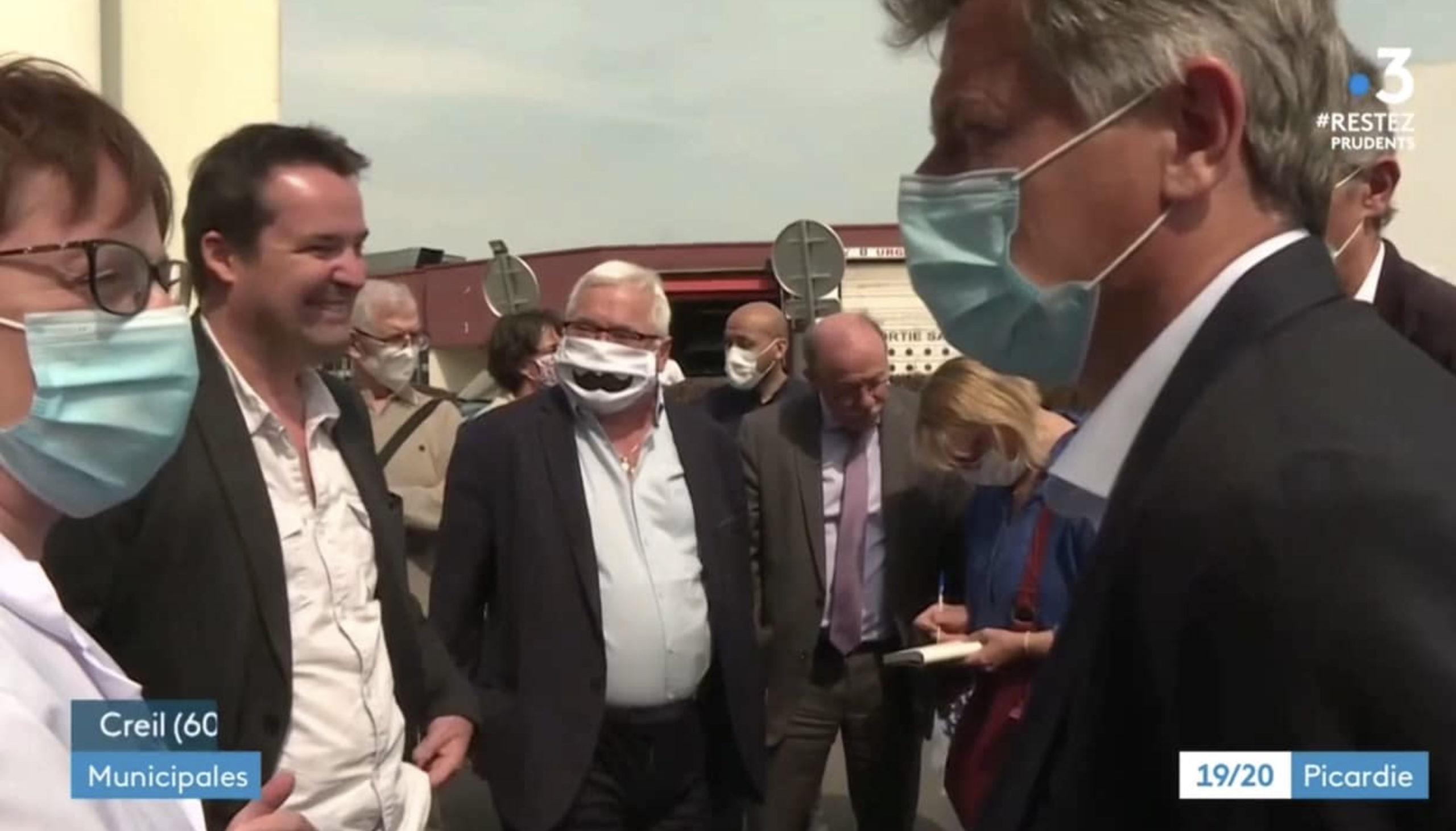 Urgence sanitaire : Loïc Pen et Fabien Roussel en soutien aux soignant·e·s de l'hôpital de Creil